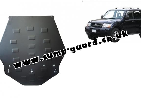 Steel gearbox guard for Mitsubishi Shogun 3 (V60, V70) Vers. 2.0