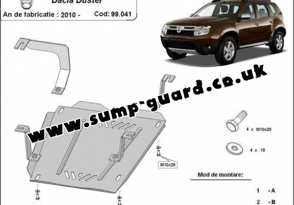 dacia duster steel engine sump guard. Black Bedroom Furniture Sets. Home Design Ideas