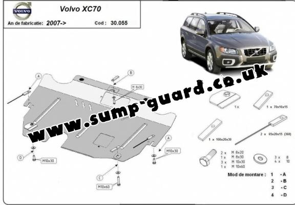 volvo xc70 steel engine sump guard