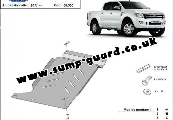 Steel gearbox guard for Ford Ranger