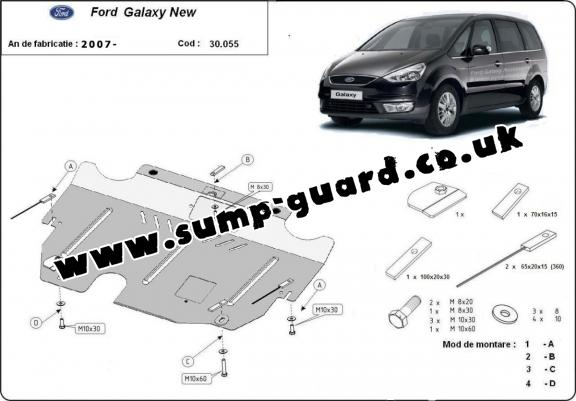 Steel sump guard for Ford Galaxy 2