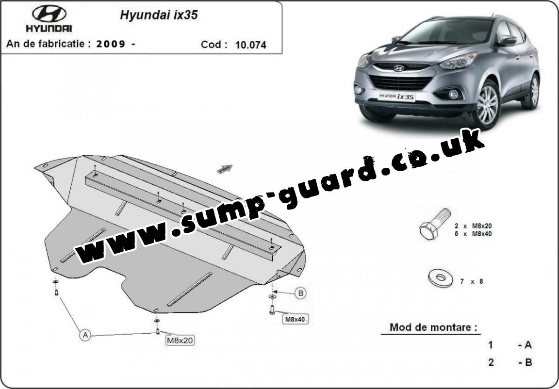 steel sump guard for hyundai ix35. Black Bedroom Furniture Sets. Home Design Ideas