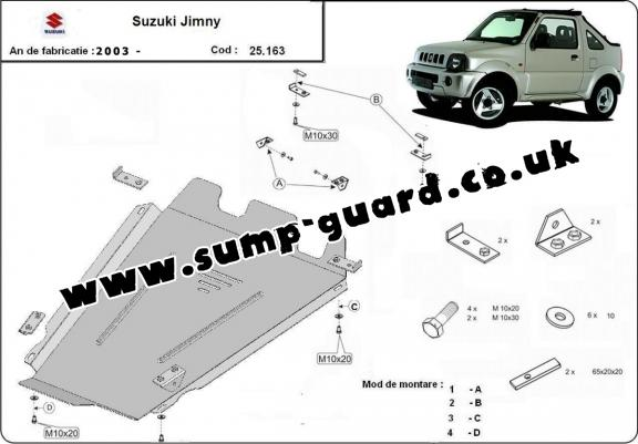 Steel gearbox guard for Suzuki Jimny