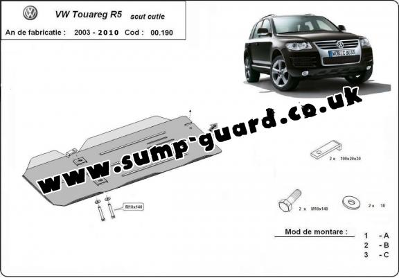Steel gearbox guard for VW Touareg R5