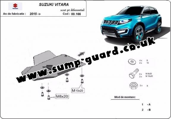 Steel diferential guard for Suzuki Vitara