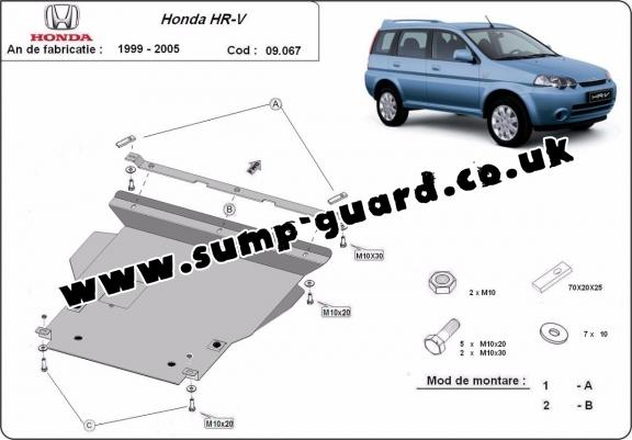 Steel sump guard for Honda HR-V