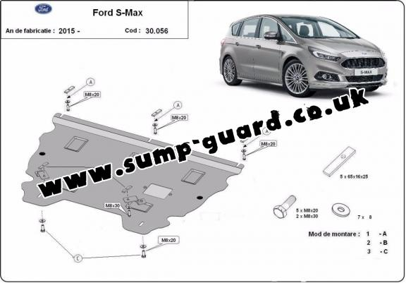 Steel sump guard for Ford S - Max