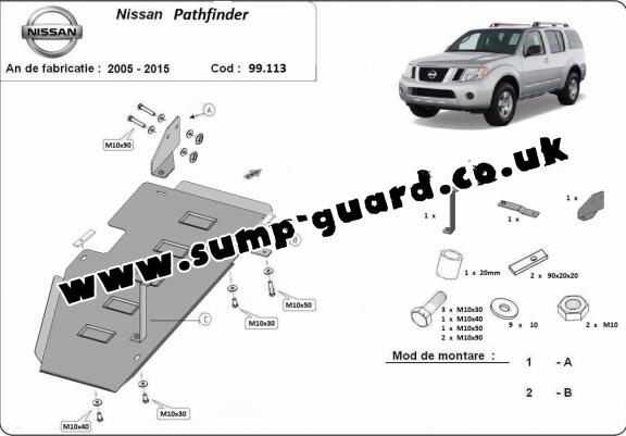 Steel fuel tank guard  for Nissan Pathfinder D40