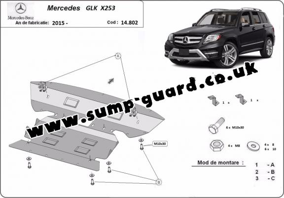 Steel sump guard for  Mercedes GLK X253