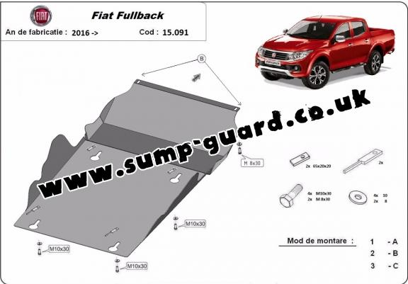 Steel sump guard for Fiat Fullback