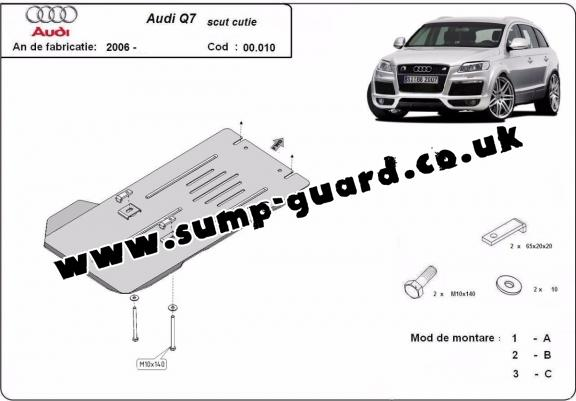 Steel gearbox guard for Audi Q7