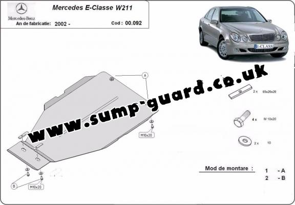Steel automatic gearbox guard forMercedes E-Clasee W211