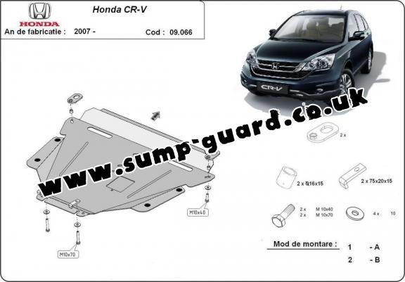 Steel sump guard for Honda CR-V