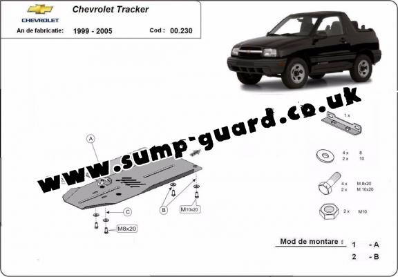 Steel gearbox guard for Chevrolet Tracker
