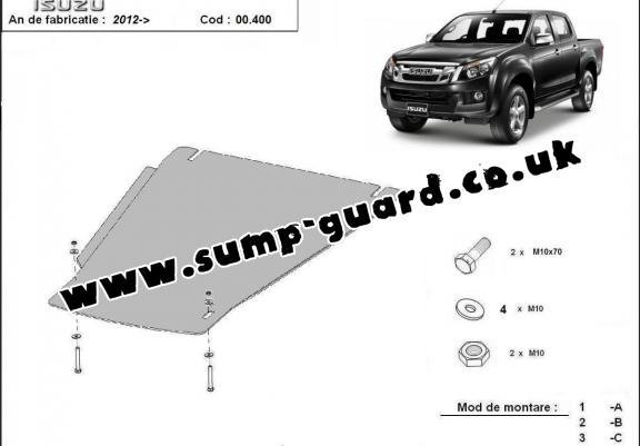 Steel gearbox guard for Isuzu D-Max