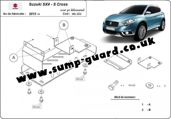 Steel diferential guard for Suzuki S-Cross - 4WD