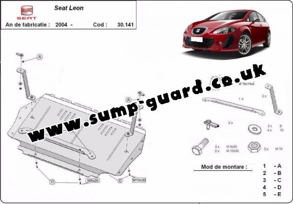 Steel sump guard for Seat Leon 2