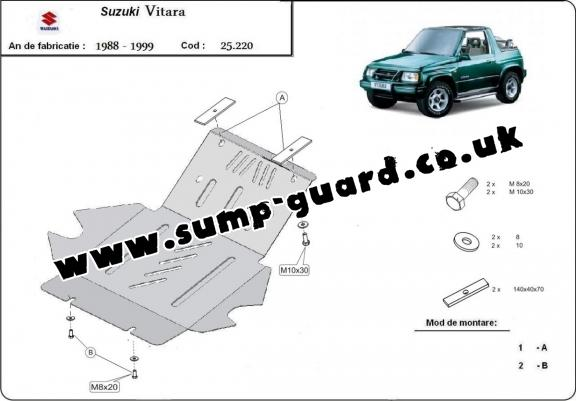 Steel sump guard for Suzuki Vitara