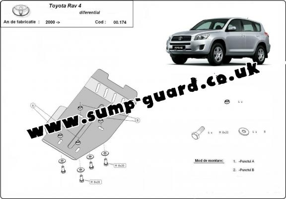 Steel differential guard for Toyota RAV 4