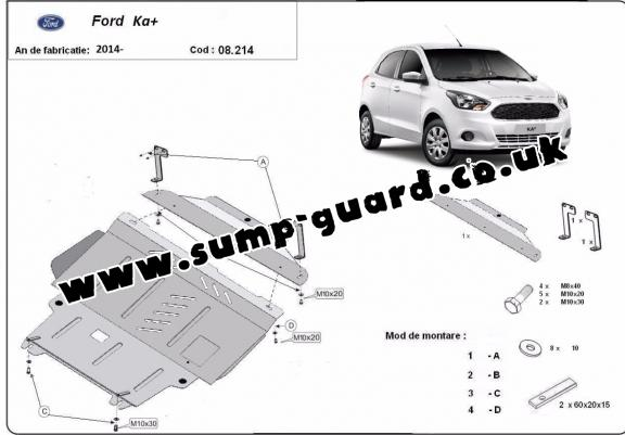 Steel sump guard for Ford KA