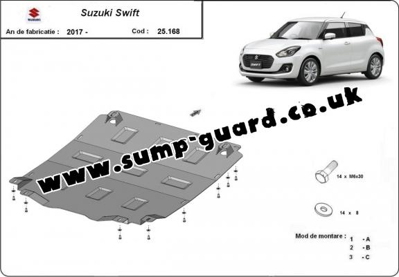 Steel sump guard for Suzuki Swift