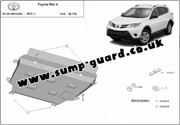 Steel sump guard for Toyota RAV 4