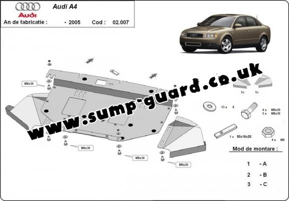 Steel sump guard for Skoda Superb - 2.5 Tdi, V6