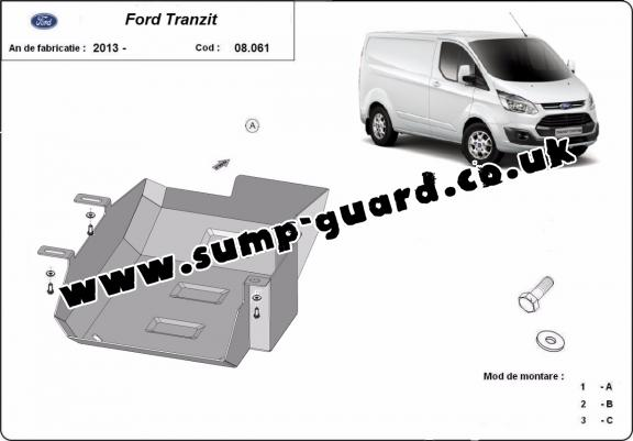 Steel AdBlue tank guard for Ford Transit Custom