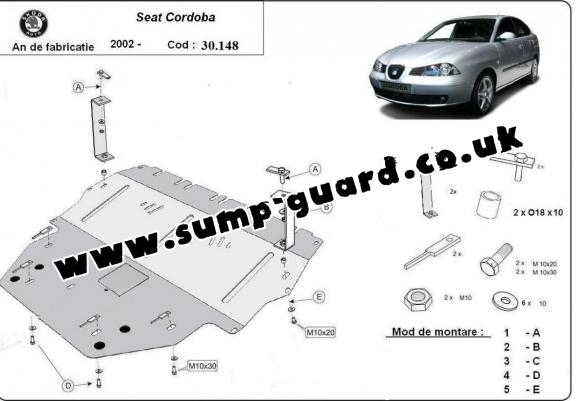 Steel sump guard for Seat Cordoba Diesel