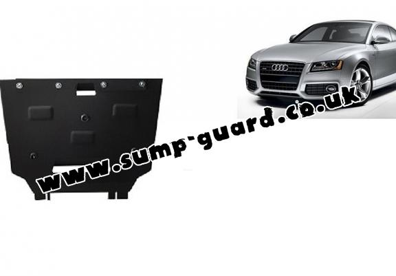 Steel gearbox guard for Audi A5