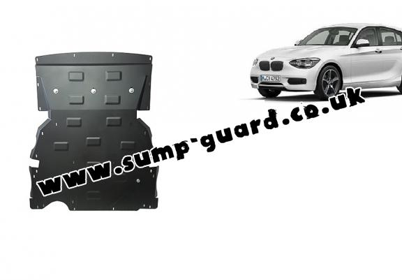 Steel sump guard for BMW Seria 1 F20/F21