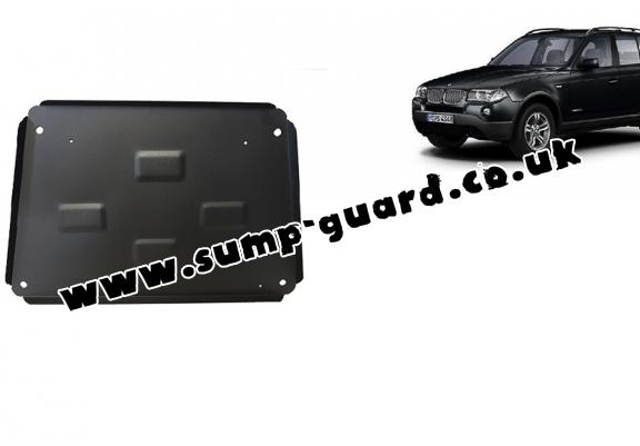 Steel sump guard for BMW X3