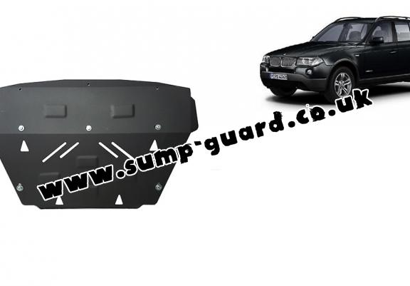 Steel radiator guard for BMW X3