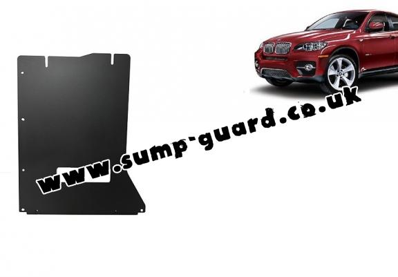 Steel gearbox guard for BMW X6