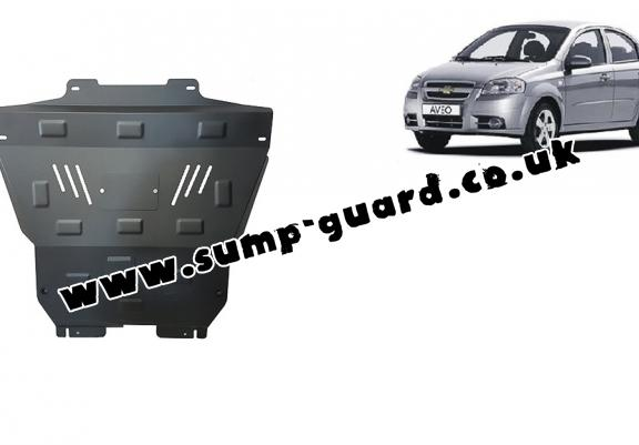 Steel sump guard for Chevrolet Aveo