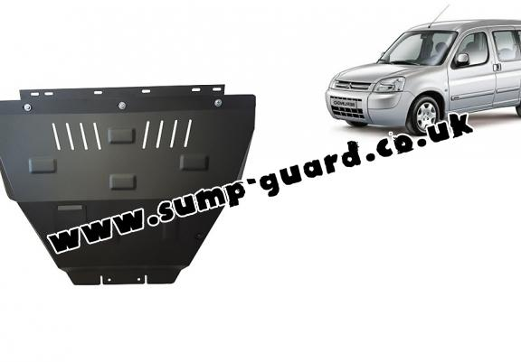 Steel sump guard for Citroen Berlingo