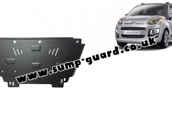 Steel sump guard for Citroen C3 Picasso