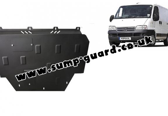 Steel sump guard for Citroen Jumper