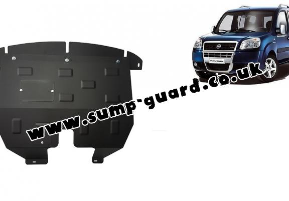 Steel sump guard for the protection of the engine and the gearbox for Fiat Doblo
