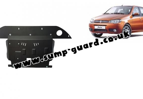Steel sump guard for the protection of the engine, gearbox and differential for Fiat Palio