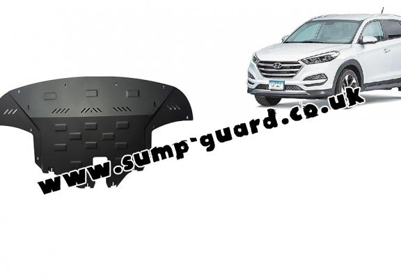 Steel sump guard for Hyundai Tucson