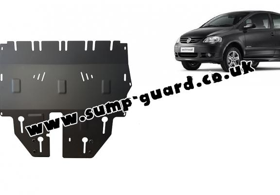 Steel sump guard for VW Fox