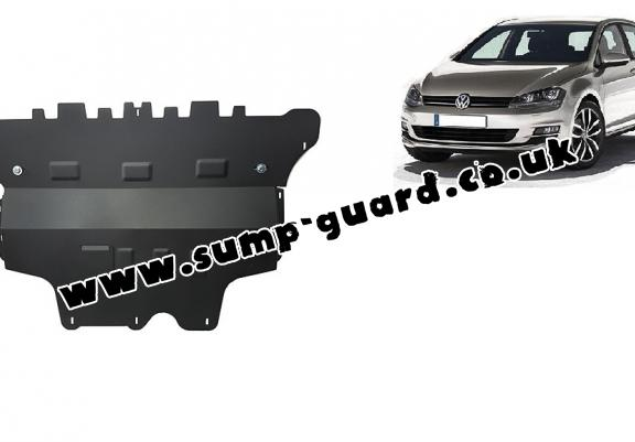 Steel sump guard for the protection of the engine and the gearbox for VW Golf 7