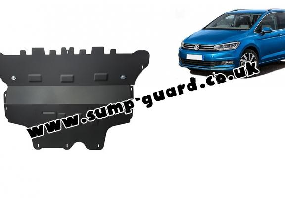 Steel sump guard for VW Touran