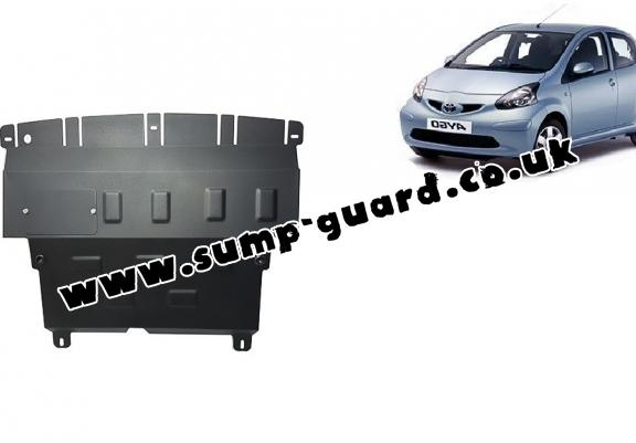 Steel sump guard for Toyota Aygo