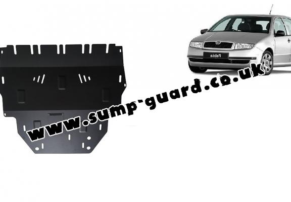 Steel sump guard for Skoda Fabia Diesel