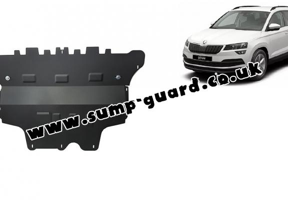 Steel sump guard for Skoda Karoq