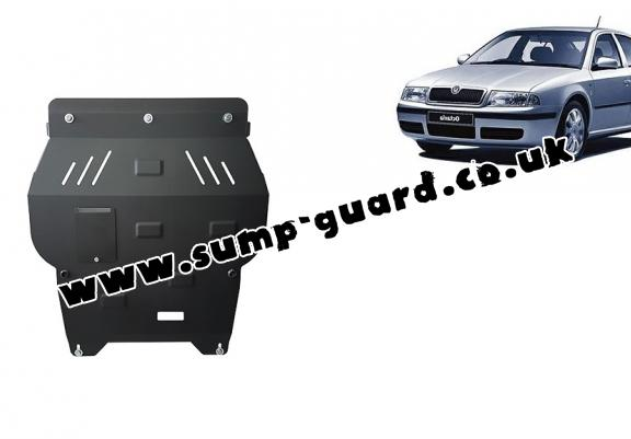 Steel sump guard for Skoda Octavia Tour