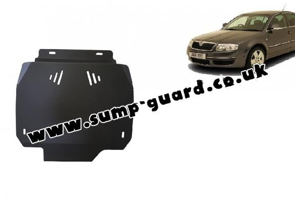 Steel automatic gearbox guard forSkoda Superb