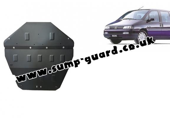 Steel sump guard for Peugeot 806